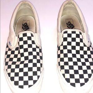Vans checkerboard slip-on GUC Sz 13